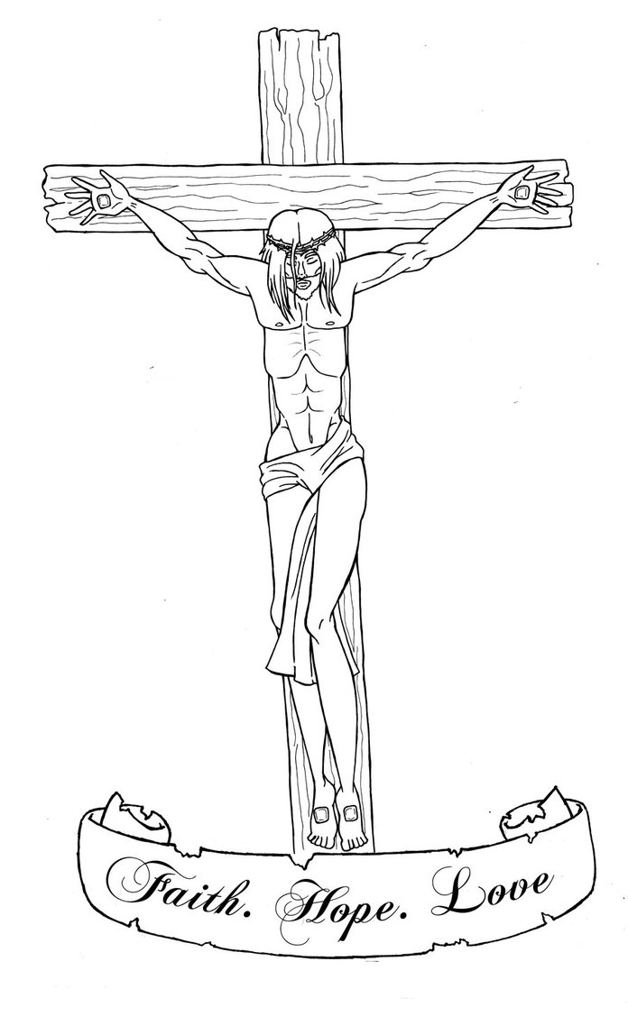 Gallery For gt Jesus On The Cross Tattoo Drawing