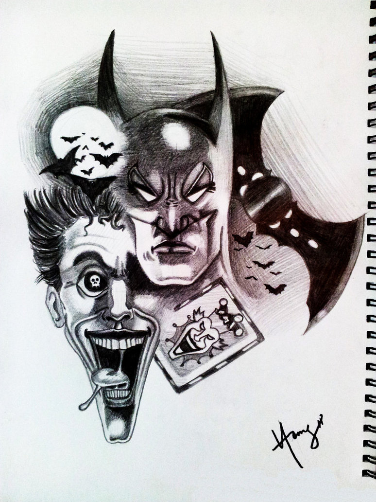Batman Joker Designs Pin Vs Tattoo Tattoos Design Gallery